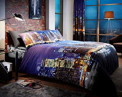 254232ed3f7 Image Unavailable. Image not available for. Colour: Gaveno Cavailia  Luxurious NEWYORK NIGHT LIFE Bed Set with Duvet Cover ...
