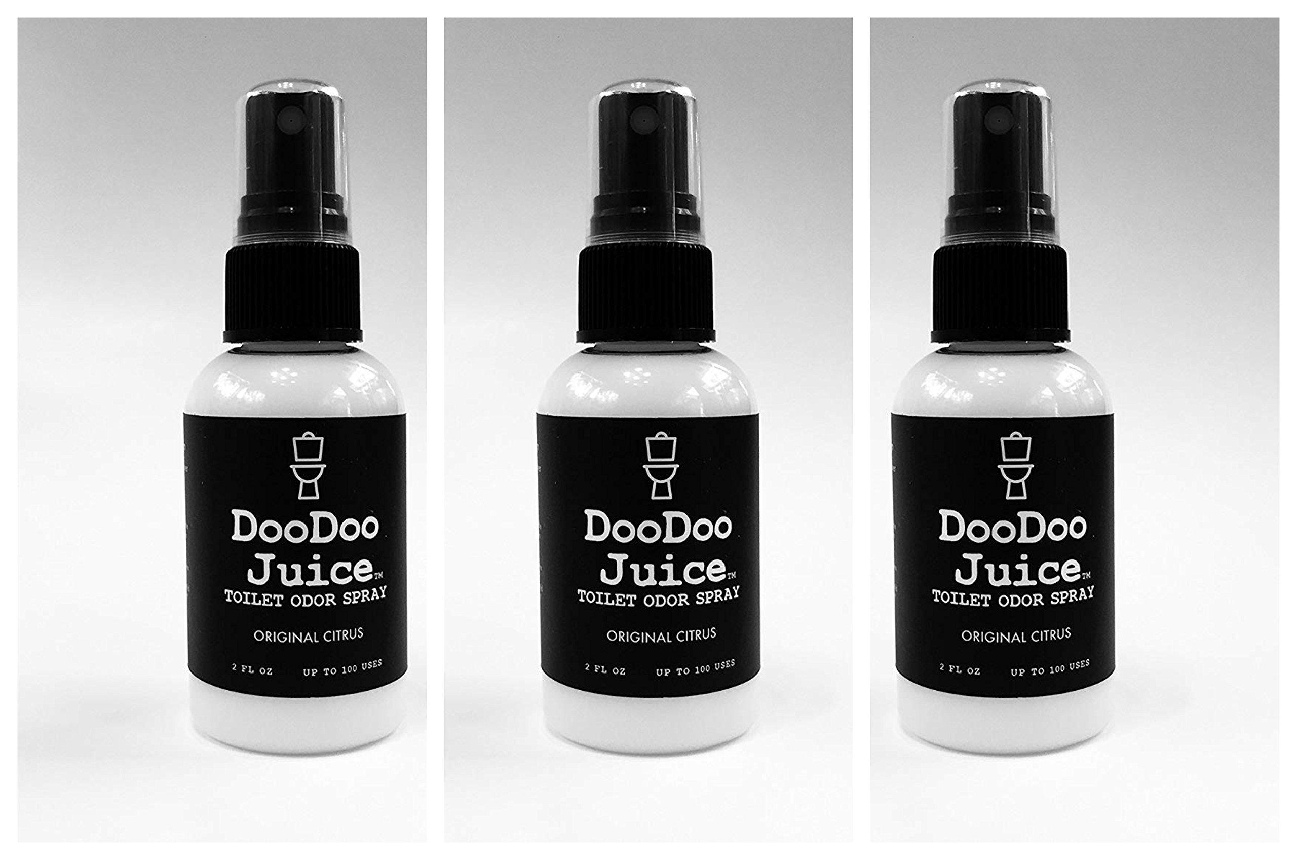 DooDoo Juice Toilet Odor Spray Bottle, 2 oz, Original Citrus (3 Pack)