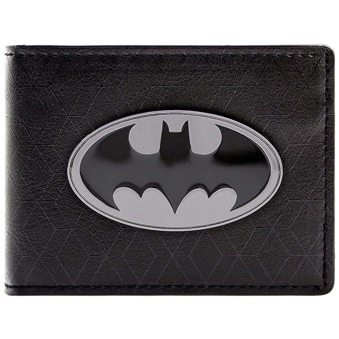 Cartera de DC Comics Batman S/ímbolo de la luz Negro