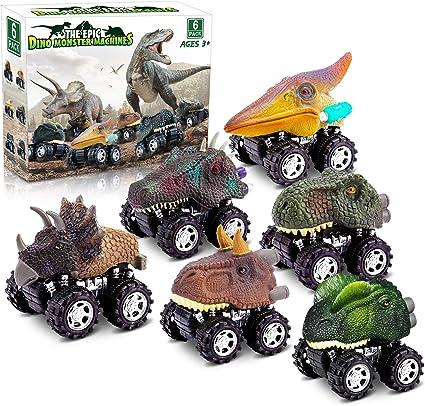 Juguetes De Dinosaurio Para Niños De 3 Años Juguetes De Dinosaurio Para Niños De 5 Años 6 Unidades De Juguetes De Auto Para Niños De 4 Años Regalos De Cumpleaños Para