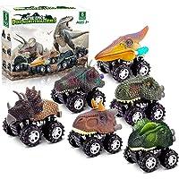 Dinosaur Toys for 3 Year Old Boys, Pull Back Dinosaur Toys for 5 Year Old Boy 6 Pack Set Car Toys for 4 Year Old Boys…