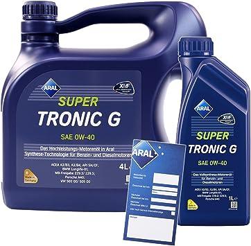 1 L 4 L 5 Liter Aral Supertronic G 0w 40 Motor Öl Inkl Ölwechsel Anhänger Auto