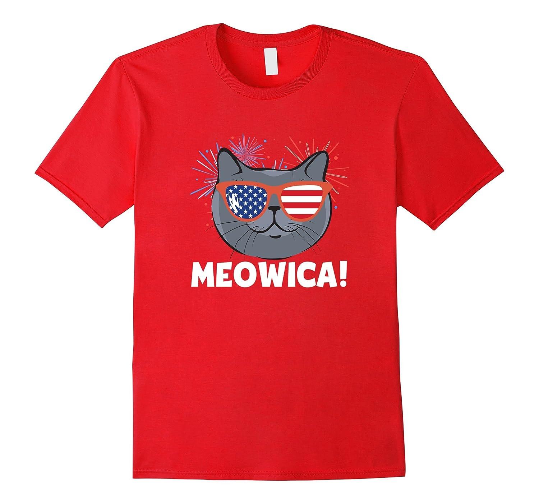 Cat 4th of July Meowica T-Shirt-Vaci
