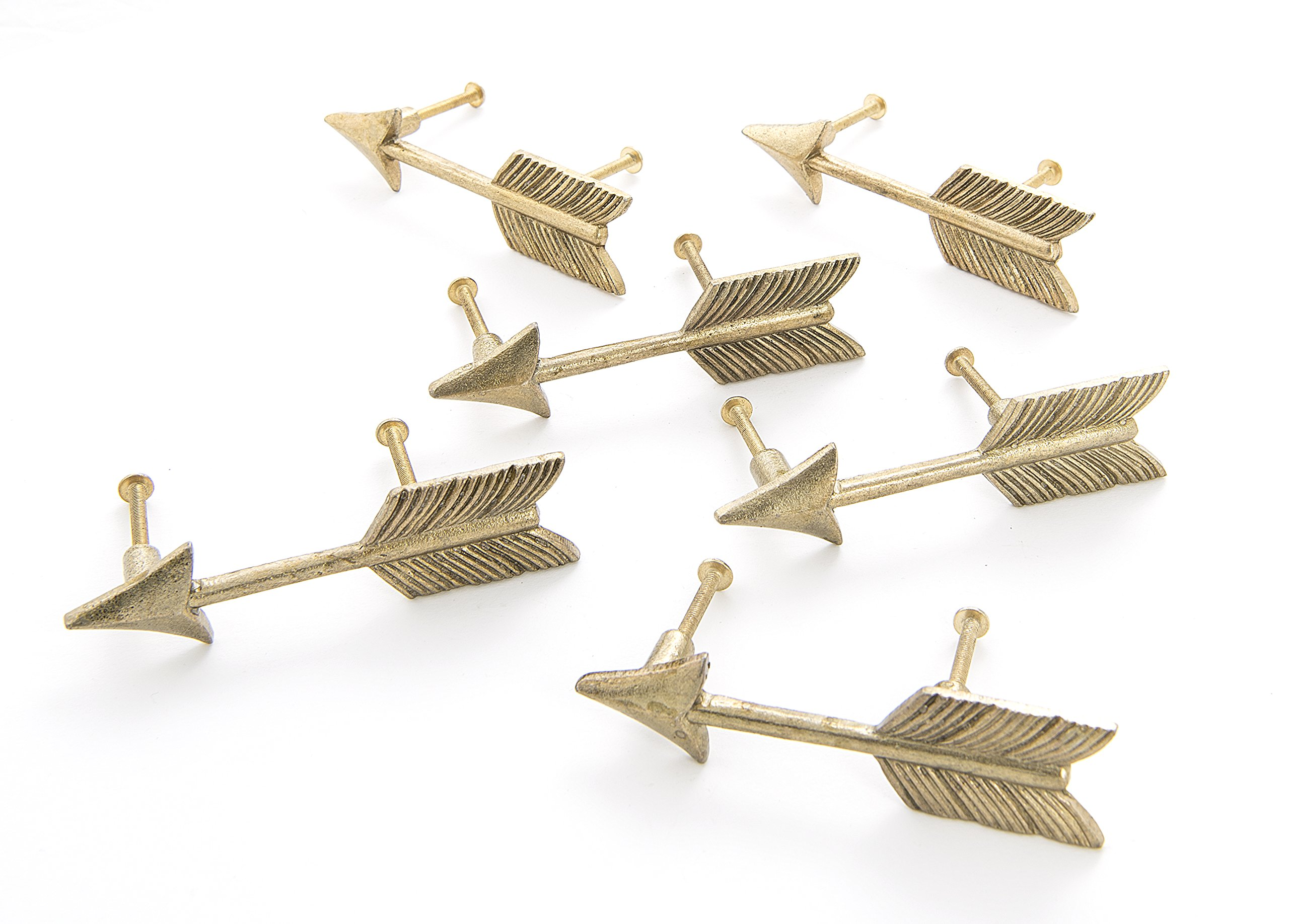 Dritz Home 47078A Metal Arrow Drawer Pull Handcrafted Pulls for Cabinets & Drawers