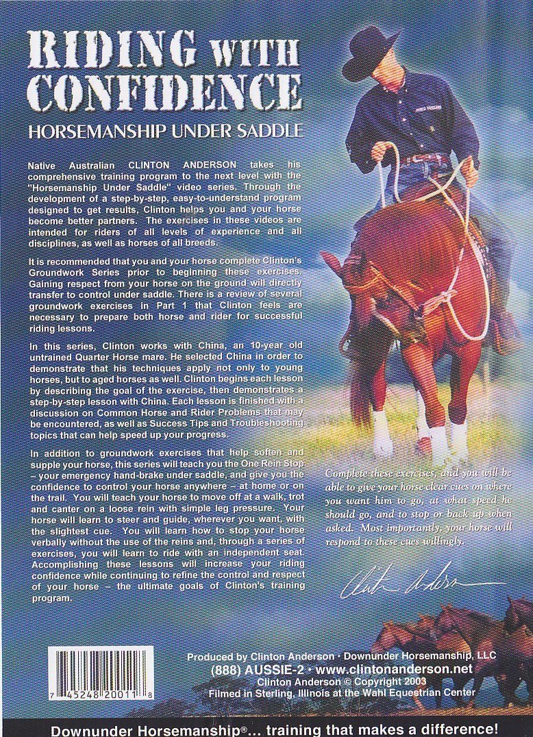 Amazon.com: Downunder Horsemanship: Riding with Confidence ...