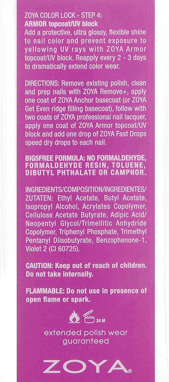 Amazon.com: ZOYA Armor Top Coat, 0.5 Fluid Ounce: Luxury Beauty