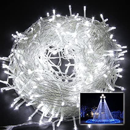 senka white 32ft 100 led fairy light string holiday outdoor lighting christmas party decoration