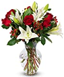 Benchmark Bouquets Red Elegance, With Vase