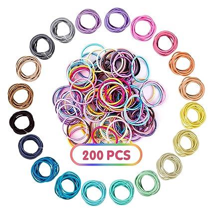 XCOZU Corbatas de pelo, 200 piezas Lazos para el Cabello del Bebé ...