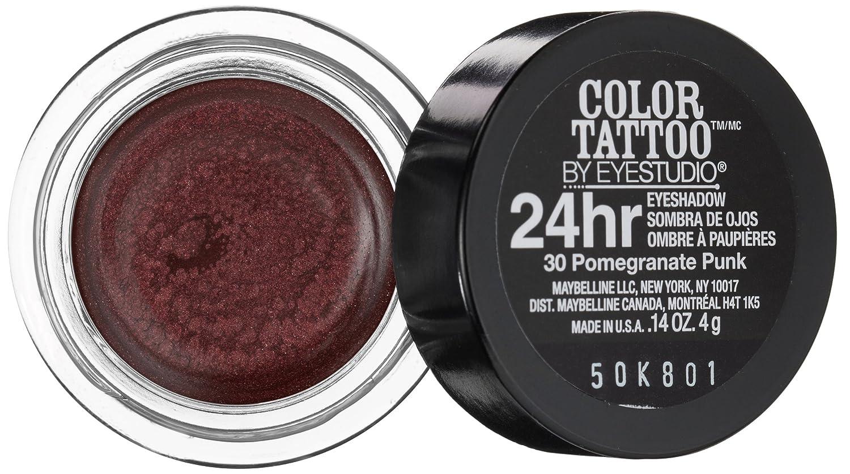 Amazon.com : Maybelline 24 Hour Eyeshadow, Pomegranate Punk, 0.14 ...
