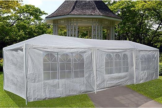 Pergola-Carpa De jardín 3 x 6 m, diseño De tela blanca-Carpa De jardín Carpa De jardín homologación De tipo: Amazon.es: Jardín
