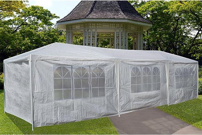 Pergola-Carpa De jardín 3 x 6 m, diseño De tela blanca-Carpa ...