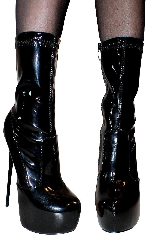 Haut Erogance Sexy Talon Femme Verni Au Genou Chaussures Bottes w6xwqz7