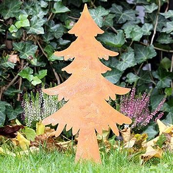 Tannenbaum Edelrost.Gartenstecker Gartendeko Tannenbaum Edelrost Rost E Amazon De Garten