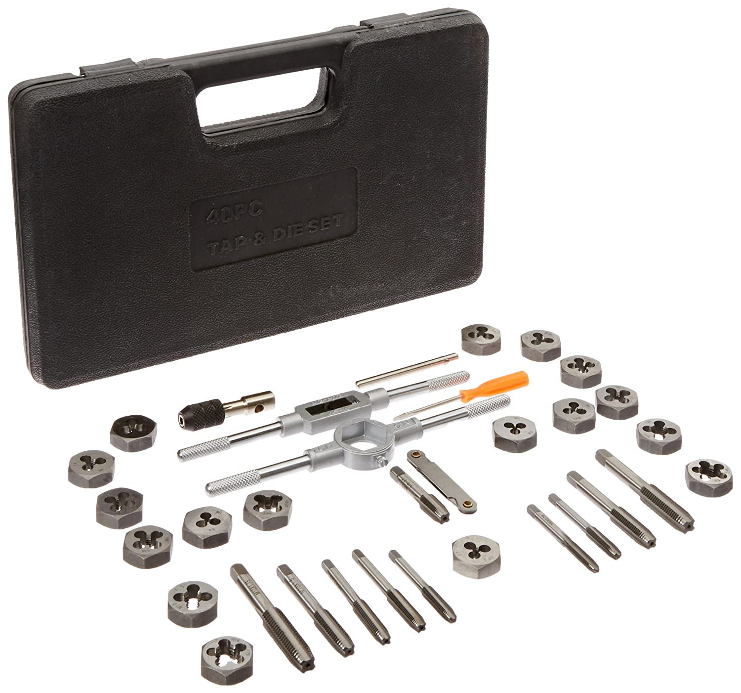 Drill America DWT40PC MM HEX 3 12mm Carbon Steel Tap and Die Set with Hex Die