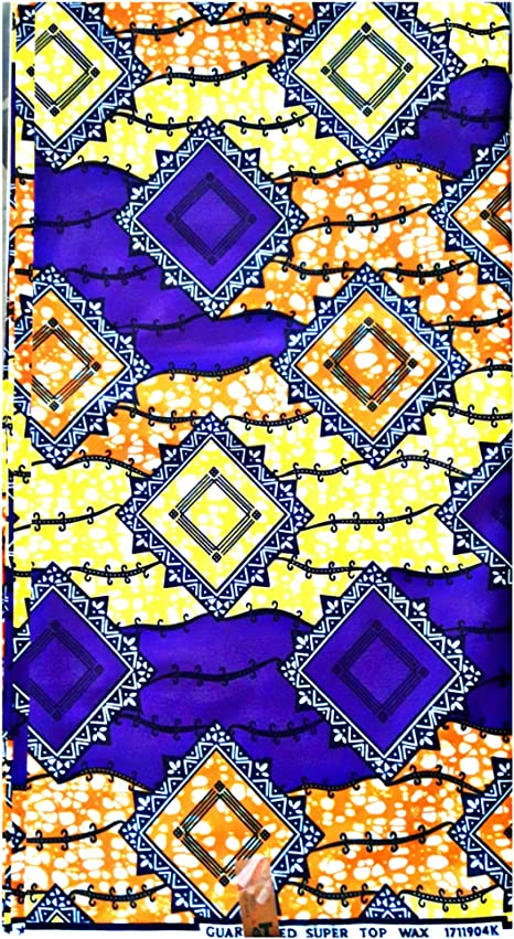 Pheonix African Pagne Super Wax Fabric 100 Cotton Wax Printed 6 Yards Either 5 48 M Amazon Co Uk Welcome