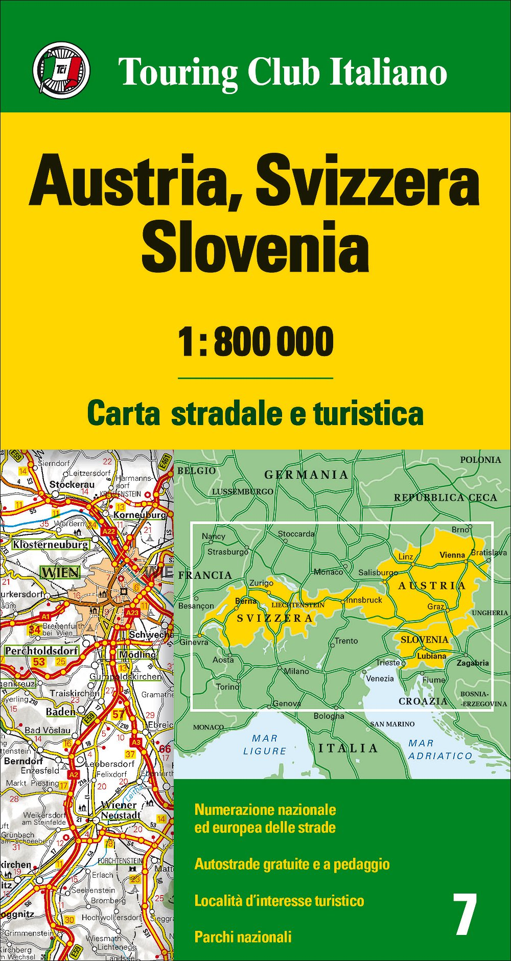 Cartina Slovenia Stradale.Amazon It Austria Svizzera Slovenia 1 800 000 Carta