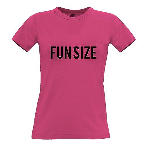 Tim and Ted Divertente T-Shirt da Donna Fun Size Persona Breve Carino Slogan Sciocco Joke Piccolo