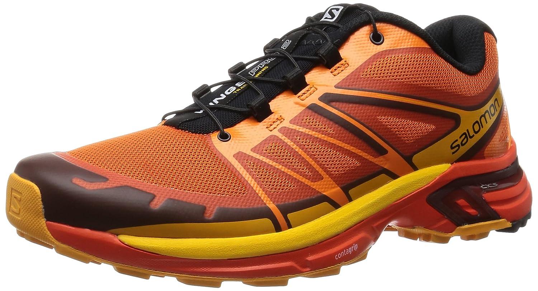 Salomon L39061700, Zapatillas de Trail Running para Hombre 8D|Red/Clementine