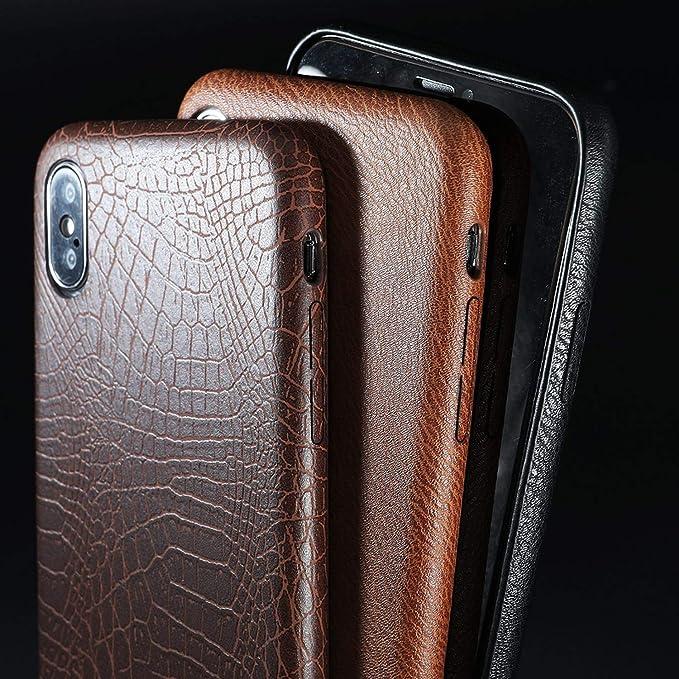 Coccodrillo motivo Custodia iPhone X / iPhone 10 Pelle sintetica
