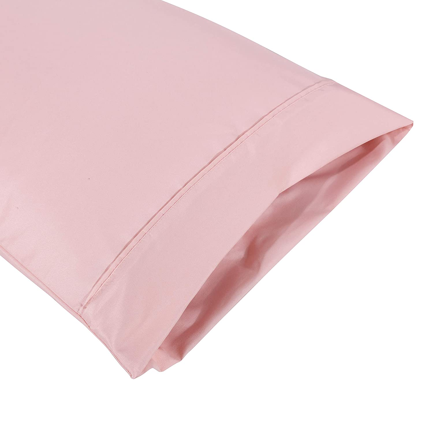 Pillowcases Set of 2 Envelope Closure End Easy Fit for Summer Soft and Breathable Machine Washable Black//Queen