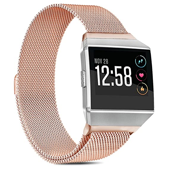 Amazon.com: IVSO Fitbit Ionic Strap, Milanese Loop Stainless ...