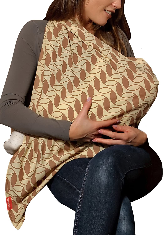 Nursing and Breastfeeding Scarf Lightweight 100/% Cotton Mama Designs Mamascarf Cream in Colour
