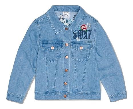 0d4cdede Dreamworks Girls' Spirit Riding Free Graphic Denim Jacket (Large ...