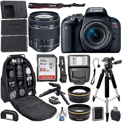 Cámara réflex Digital Canon EOS Rebel T7i con Lente Canon de 18-55 ...