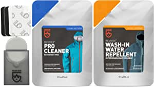 GEAR AID Revivex Wash and DWR Care Kit for Gore-TEX Fabric, Jackets, Ski Pants and Gloves