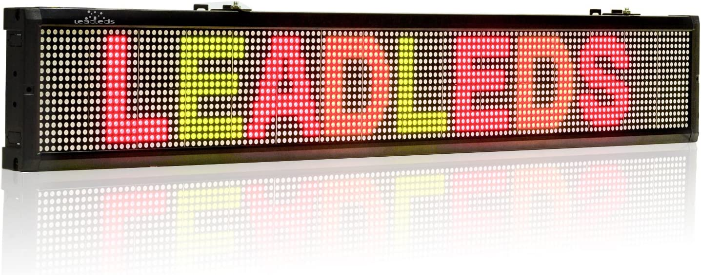 """SCROLLING PROGRAMMABLE LED  RED COLOR MESSAGE BOARD SIGN 39.4/""""x7.9/"""" inch"""