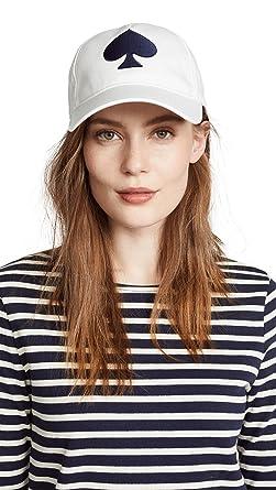 815184a9d51 Kate Spade New York Women s Large Spade Baseball Hat Cream One Size ...