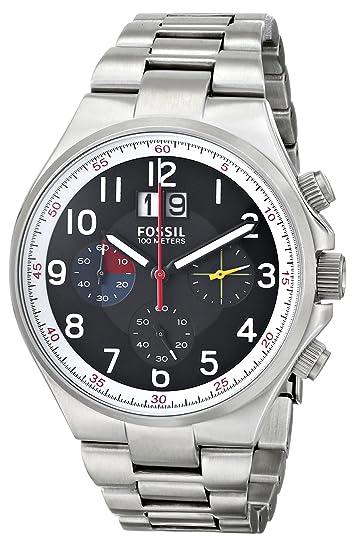 Fossil Reloj analogico para Hombre de Cuarzo con Correa en Acero Inoxidable CH2909: Amazon.es: Relojes