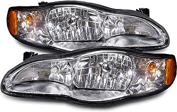 New Pair Set Headlights Headlamp Lens Assembly DOT Chevrolet Lumina Monte Carlo