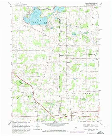 Clear Lake Indiana Map.Amazon Com Yellowmaps Clear Lake In Topo Map 1 24000 Scale 7 5 X