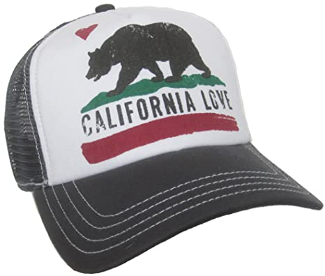 Brooklyn Hat Co California Love Trucker Cap Snap Back Grizzly Bear ... 908fc4568c2