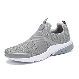Mishansha Men Women Fashion Sneakers Breathable Mesh Comfortable Lightweight Walking Shoes Slip-On Running Soft Grey