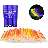 Glow Bracelets - 300pc Wholesale Pack of Glow Sticks w Connectors - NON-TOXIC, Long 8-12 Hour Lifespan