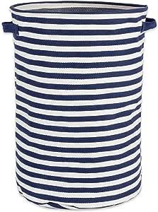 DII Fabric Round Room, Nurseries, Closets & Everyday Storage Needs, French Blue Stripe Laundry Hamper,