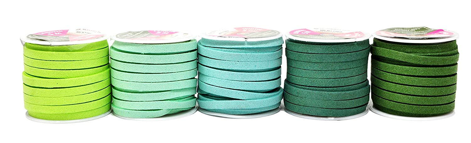 5mm, Dim Gray Mandala Crafts 50 Yards 5mm Wide Jewelry Making Flat Micro Fiber Lace Faux Suede Leather Cord