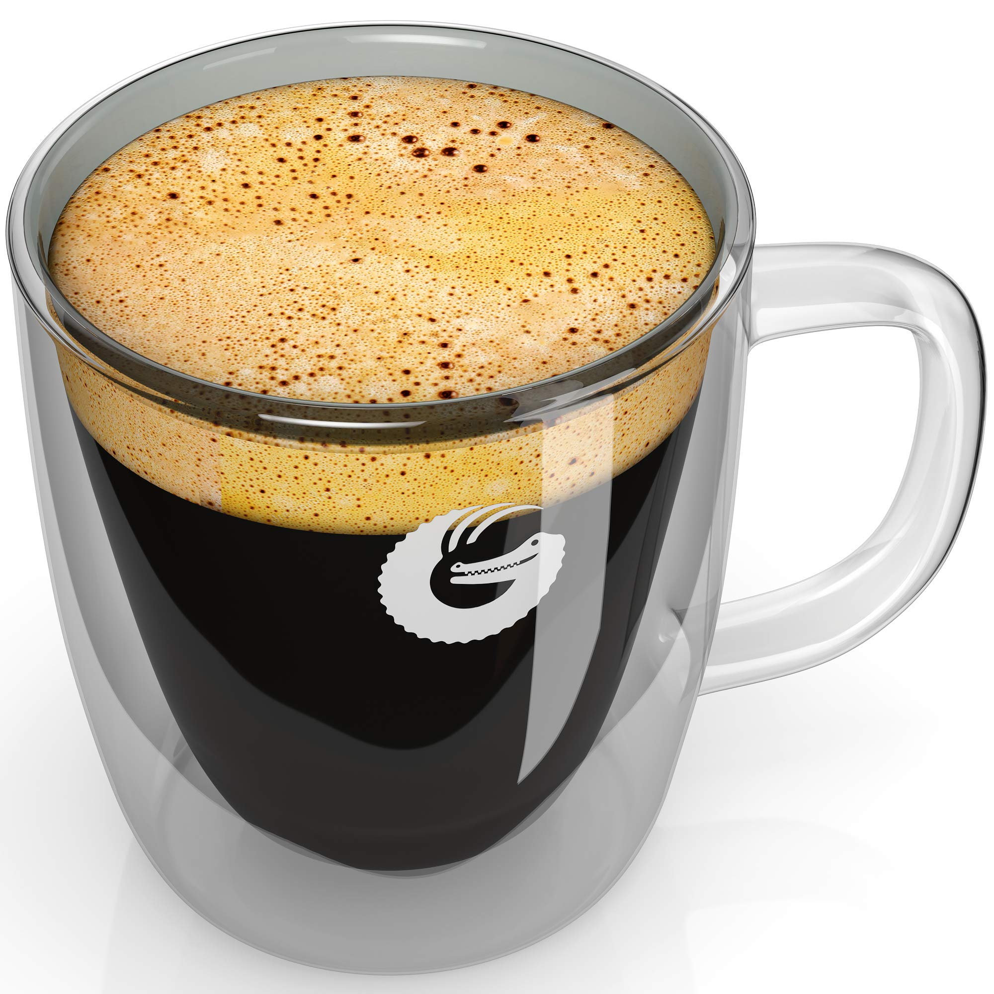 Coffee Gator Insulated Glass Mug - Hotter-For-Longer Thermal Cup - 1 x 12 ounce by Coffee Gator (Image #1)
