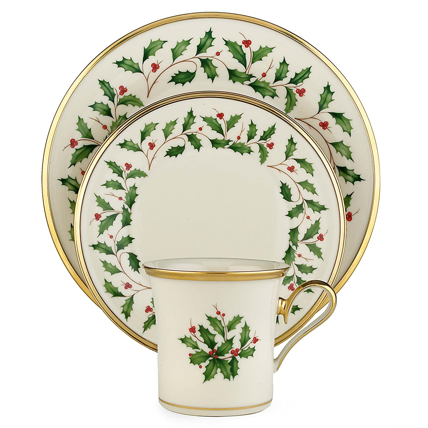 sc 1 st  Amazon.com & Amazon.com: Lenox Holiday 12-Piece Dinnerware Set: Kitchen \u0026 Dining