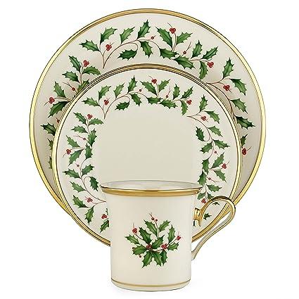 Amazon.com | Lenox Holiday 12-Piece Dinnerware Set: Dinnerware Sets
