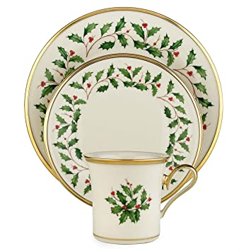 Amazon.com: Lenox Holiday 12-Piece Dinnerware Set: Kitchen & Dining