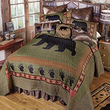 Amazon.com: Salvia Creek oso colcha – Juego de cama queen ...