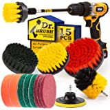 Holikme 15Piece Drill Brush Attachments Set, Scrub Pads & Sponge,Buffing Pads,Power Scrubber Brush with Extend Long…