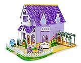 Melissa & Doug Pretty Purple Dollhouse: 3D Puzzle & Playset in One & 1 Scratch Art Mini-Pad Bundle