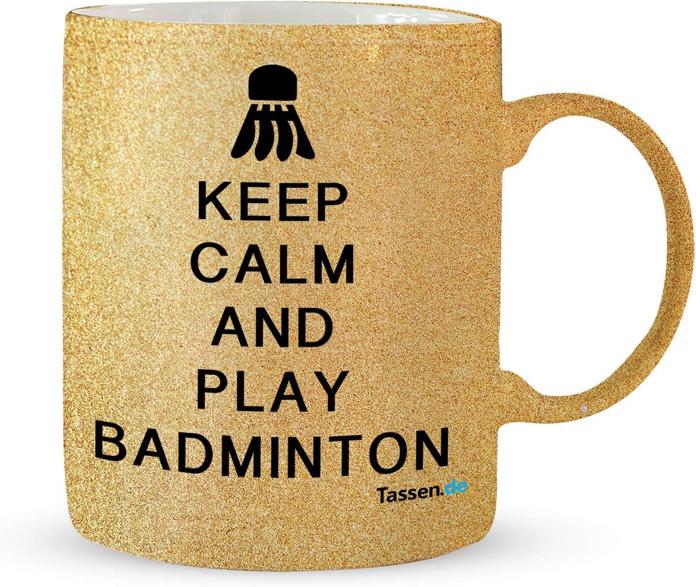 Lustig Sport Beware Verrückte Badminton Damen 284ml Becher Tasse