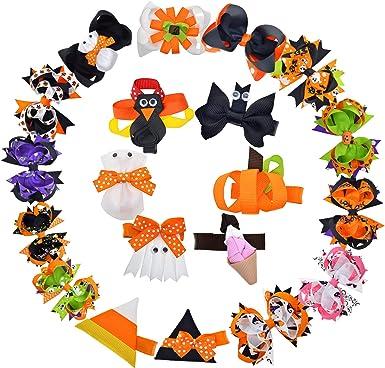 Halloween Cloth Bat Bow Ghost Hairpin Hair Clips Children Hair Accessories