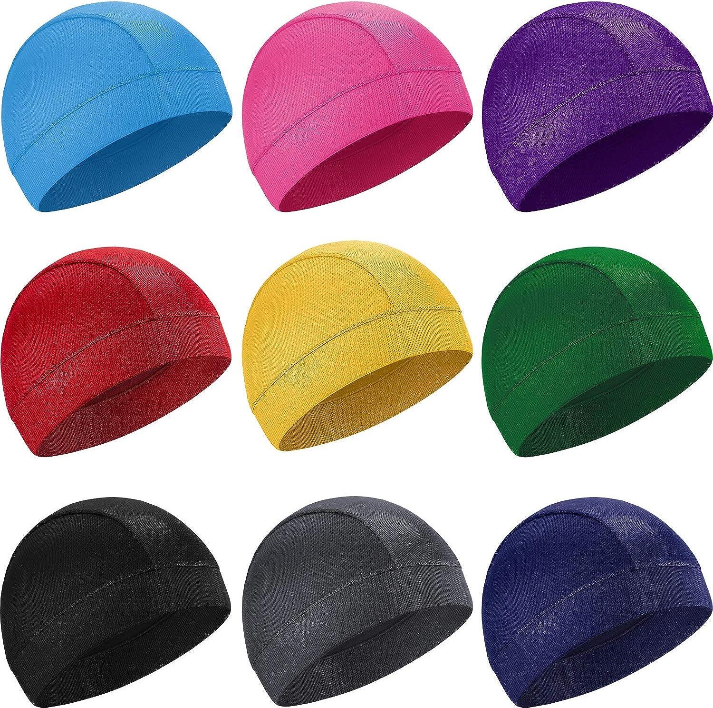 SATINIOR Lot de 9 casquettes de refroidissement en forme de t/ête de mort pour homme et femme 9 couleurs